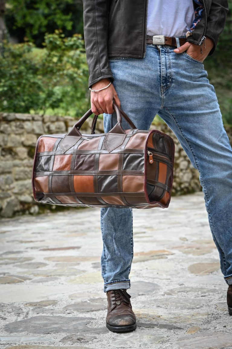 Must dell'azienda Montini da oltre 50 anni....borsone a quadri vintage senza tempo