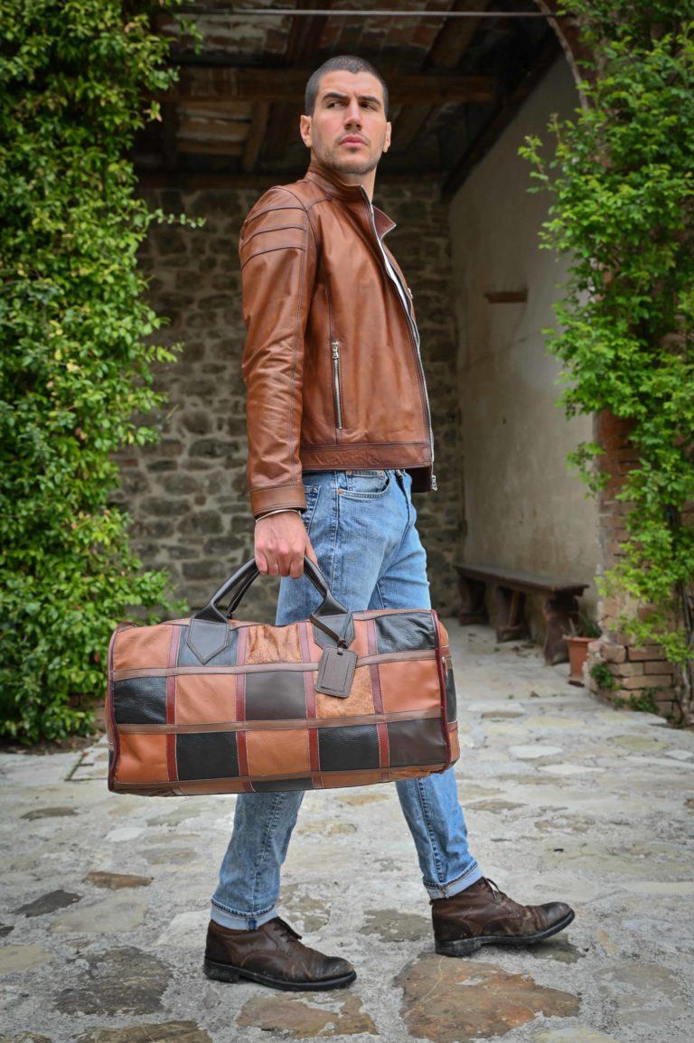 Must dell'azienda Montini da oltre 50 anni...borsone a quadri vintage senza tempo